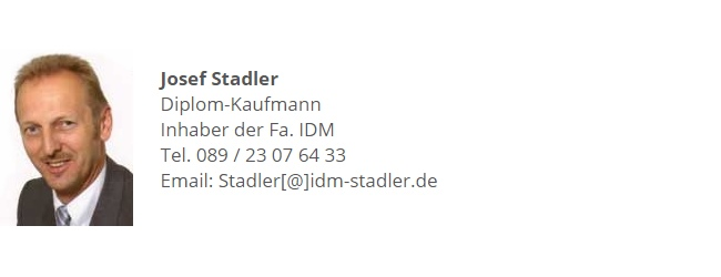 Josef Stadler IDM in München